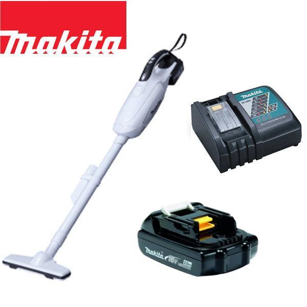 マキタ 18V コードレス 掃除機 紙パック式 CL182FDZW + バッテリー BL1820 + 急速充電器DC18RC 充電式 クリーナー リチウムイオンバッテリー