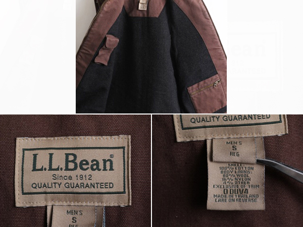 Rare size S ■ L L Bean L  L  Bean wool liner full zip brown duck best  (men's a man) outdoor wear old clothes | Sports many pockets layering high  neck
