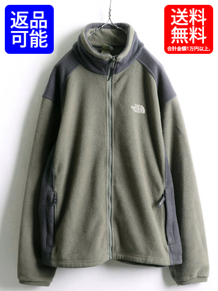 f42fdaffe The North face ■ North Face full zip by color reshuffling fleece jacket  (male men's L) old clothes used two ton jacket   Sports outdoor wear by ...