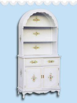 ホワイト家具 キャビネット アンティーク白家具 白い ロマンチック 姫系 食器棚 キッチンボード キッチン収納オープンキャビネット♪wh106f/SI 【大人カワイイ】【新生活】