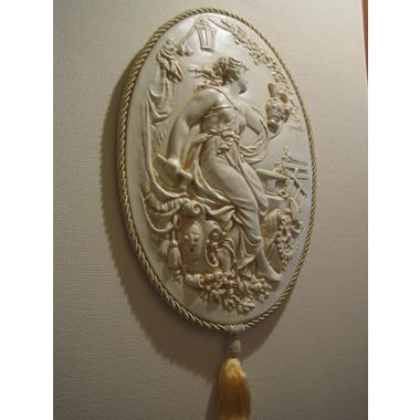 カメオ壁飾り/レリーフ壁掛けet43【ウォールデコ】【クラシカル雑貨】
