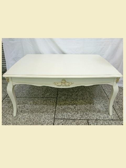 ホワイトローテーブル wh003【シンプル】【かわいい】【白】【姫系】【リビング】