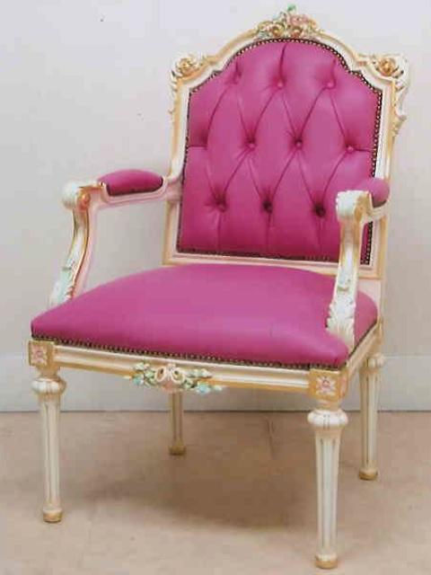 プリンセスアームチェア ch014【西洋家具】【クラシカル】【姫系】【エレガント】【ロココ】