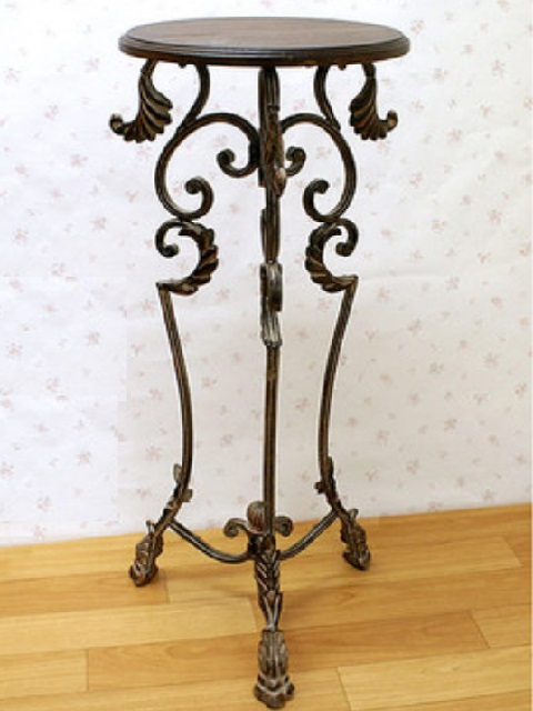 Knick Knack Grace Note Antique Furniture シャビーシック Furniture Interior Brown Brown Flower Stands Flower Table Flower Stand Telephone Stand Iron Flower Stand Ai588 Of Romantic Princess Line Rakuten Global Market