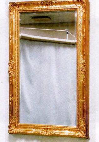 姿見 スタンドミラー 壁掛け 鏡 ウォールミラー アンティーク ロマンチック 姫系 全身 シャビー クラシッククラシックなシルエットミラーmr122【大人カワイイ】【新生活】