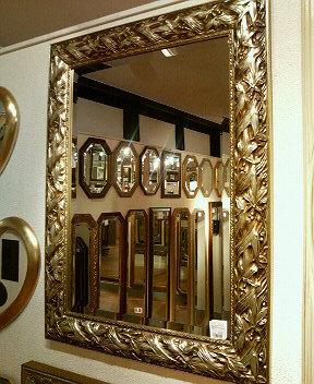 鏡 ミラー 壁掛け アンティーク ウォールミラー アンティーク ロマンチック 姫系 シャビー スクエアシルバースクエアミラーmr13【大人カワイイ】【新生活】