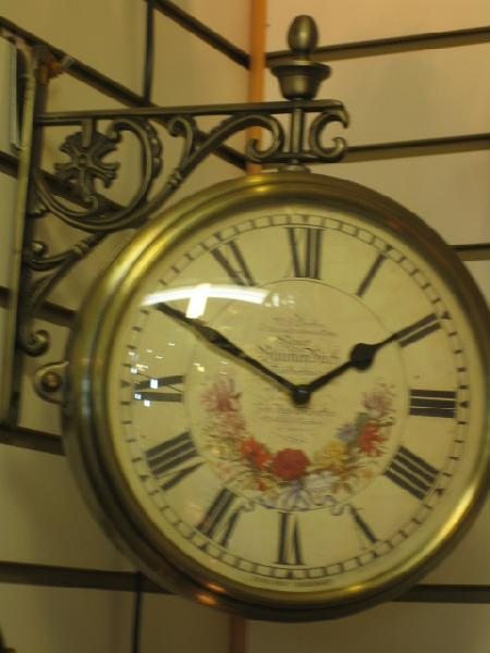 両面時計 アンティーク 回転 壁掛け時計 フラワークロック ブラケット時計 ウォールクロック 回転時計wa50【送料無料】【大人カワイイ】【0831otoku-f】【新生活】【ラグジュアリー】
