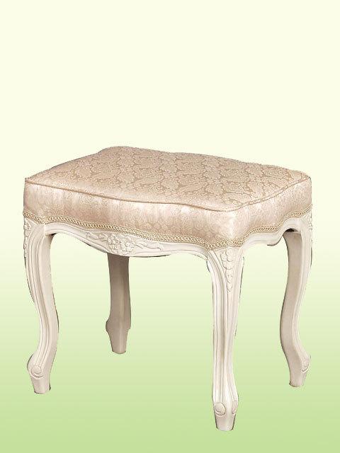 ホワイト家具 ロマンチック 姫系 白い 白家具 スツール 椅子 チェア いす インテリアスツールch49【輸入家具】(猫足 ねこ足)】【大人カワイイ】【新生活】