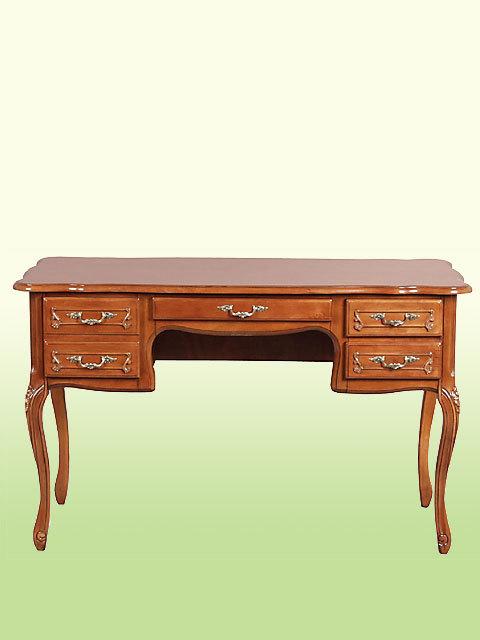 フィオーレプリンセスデスク♪de21【机】【木製家具】【イタリア製】【茶色・ブラウン】【猫足】【クラシック家具】