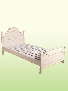 ホワイトシングルベッド♪wh2111【姫系家具】【白・ホワイト家具】【シンプル】