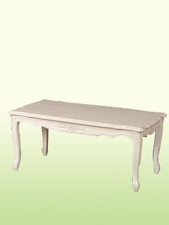 フィオーレリビングテーブルwh272【白・ホワイト家具】【シンプル】【猫脚】