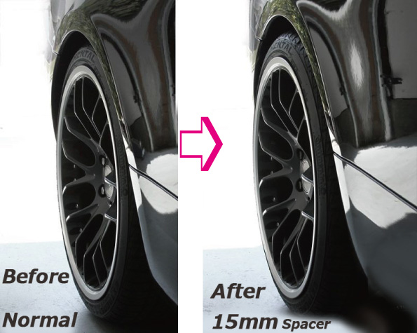 BMW 용 HGB 와이드 트 레드 휠 스페이서 (2 매) 10-12-15-18-20 밀리/PCD120mm/HUB72.5/5Hx2/블랙 알루 사양