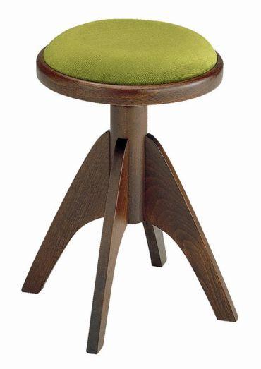 【ピアノ購入者限定】3F-7 ピアノ椅子 IT-2 4本脚 艶消しウォルナット塗 グリーン