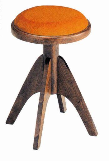 【ピアノ購入者限定】3F-8 ピアノ椅子 IT-2 4本脚 艶消しウォルナット塗 ゴールド