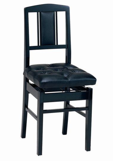 【ピアノ購入者限定】6F-2 ピアノ椅子 No.7 黒塗