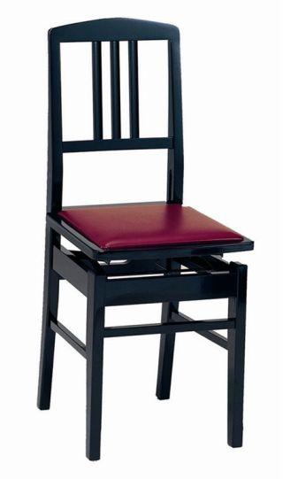 【ピアノ購入者限定】6F-3 ピアノ椅子 No.5 黒塗