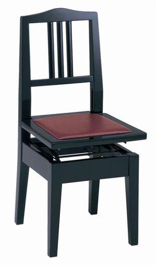 【ピアノ購入者限定】6F-4 ピアノ椅子 No.6 黒塗