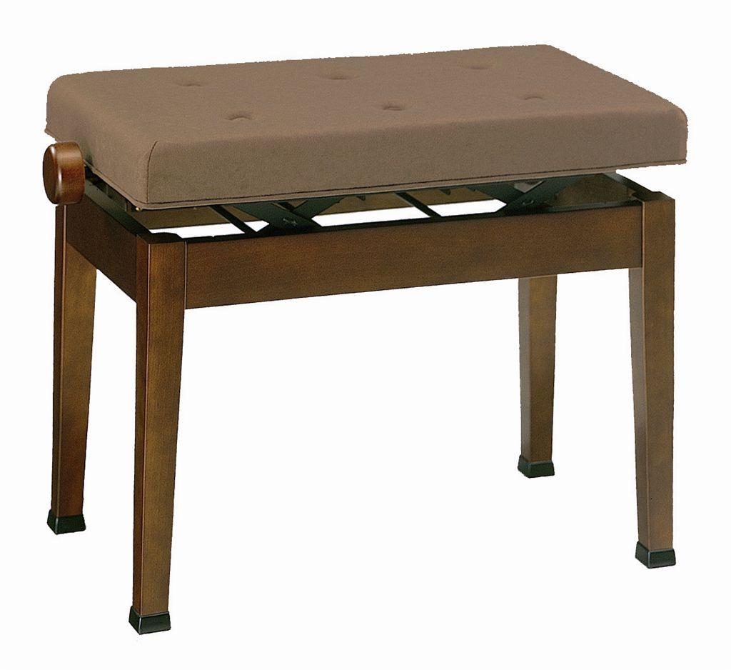 【ピアノ購入者限定】7F-3 ピアノ椅子 V60-S2 スエード調布張 艶消しウォルナット/ブラウン張 ※受注生産