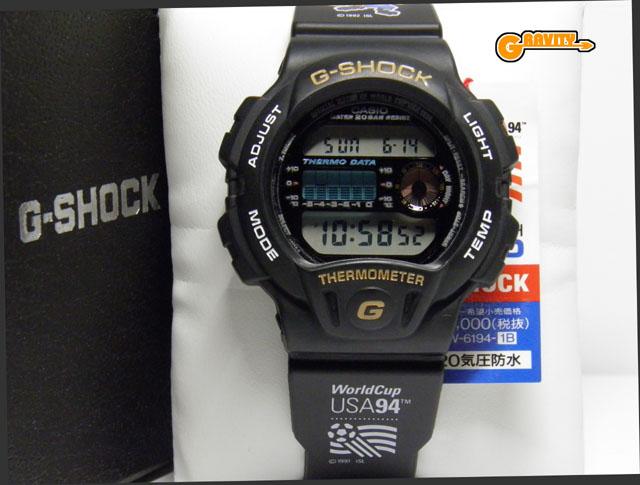 CASIO(カシオ)G-SHOCK(ジーショック)DW-6194‐1C 1994年 サッカーワールドカップ アメリカ大会記念モデル(DW-6100ベース)【未使用品】