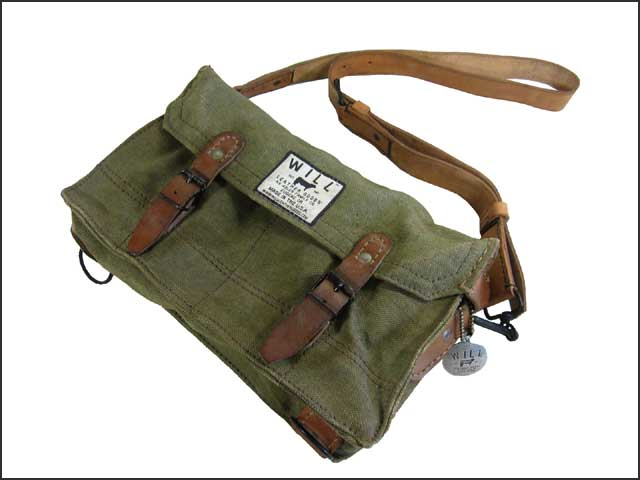 Will Leather Goods Toy Vintage Canvas Camera Bag Ammunition