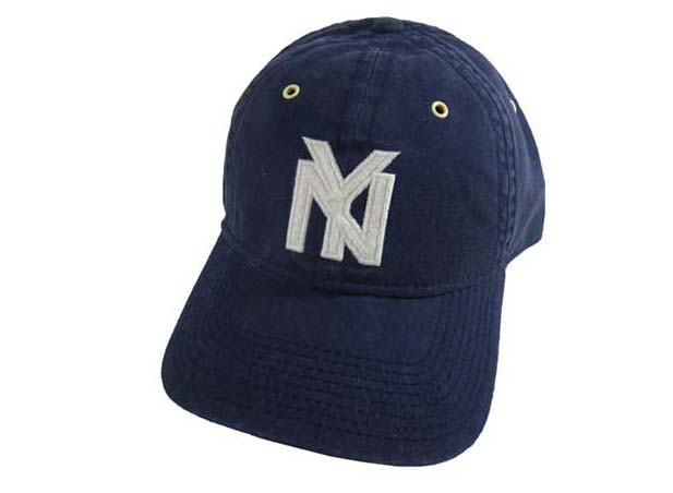 BLUE MARLIN   marine Nigro League base ball cap New York black Yankees 1935 e3cc8885da15