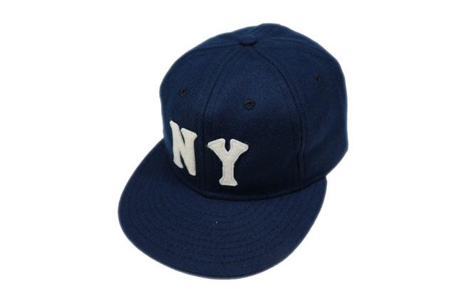 EBBETS FIELD FLANNELS/エベッツフィールドフランネルズ  ヴィンテージボールキャップ 「NEWYORK BLACK YANKEES 1936」 あす楽
