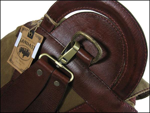 """SANDAST / Sun dust Handmade Leather & canvas day bag """"FALCON"""""""