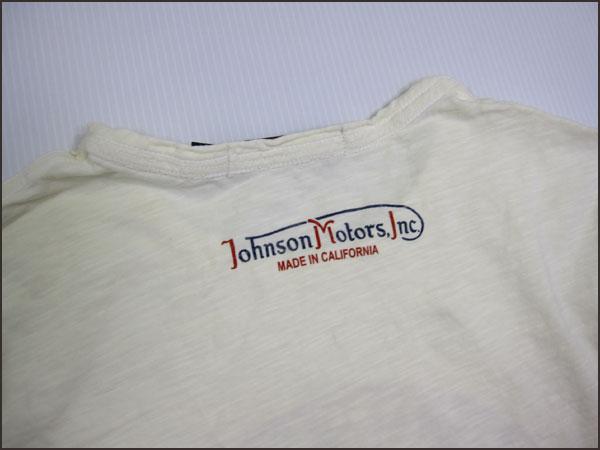 "JOHNSON MOTORS Johnson Motors T shirt ""Johnson junction"" dirty white Johnson Motors T-SHIRTS"