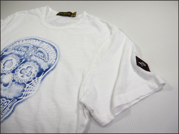 "JOHNSON MOTORS / Johnson Motors T shirt ""ink skull"" optic white Johnson Motors T-SHIRTS"