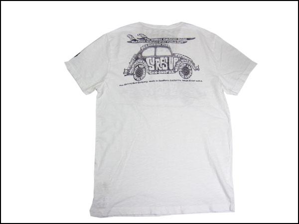 "SUNSET SURF and Sunset surf T shirt ""sunset bag"" optic white by Johnson Motors /JOHNSON MOTORS"