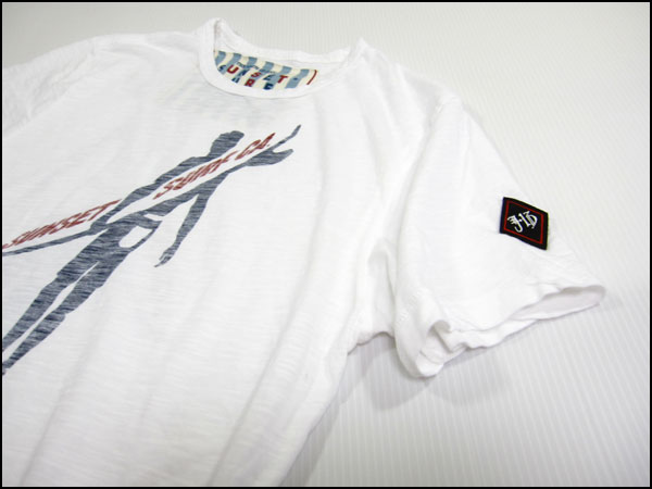 "SUNSET SURF and Sunset surf T shirt ""sunset surfer"" optic white by Johnson Motors /JOHNSON MOTORS"