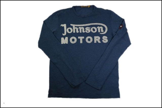 JOHNSON MOTORS ジョンソンモータース メンズ 長袖 Tシャツ クラッシック 38 デッドネイビー ロングスリーブ 秋冬 アメカジ バイカー