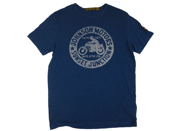 JOHNSON MOTORS ジョンソンモータース S/S Tシャツ 「ジョンソンジャンクション」エアフォースブルー あす楽 ジョンソン・モータース T-SHIRTS ティーシャツ