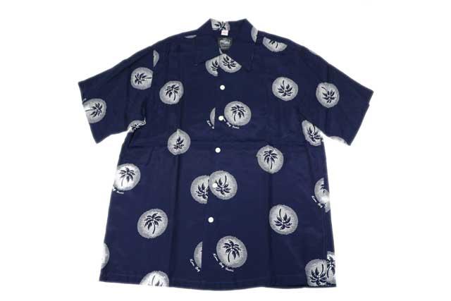 KONA BAY HAWAII コナベイハワイ S/S アロハシャツ 「パームツリー」ネイビー あす楽 ハワイアンシャツ
