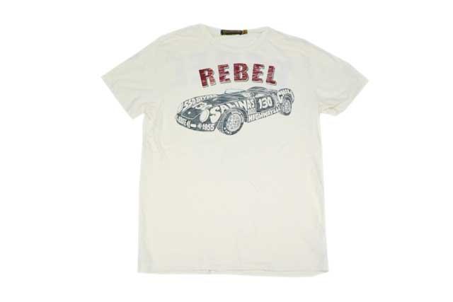 JOHNSON MOTORS ジョンソンモータース メンズ 半袖 Tシャツ 「レベル550」ダーティーホワイト あす楽 ジョンソン・モータース アメカジ バイカー