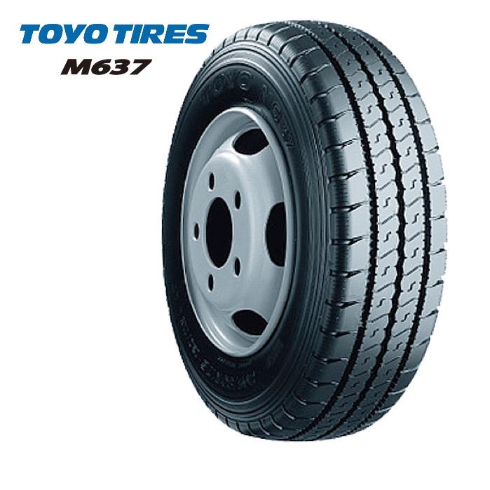 トーヨータイヤ M637 205/80R17.5 120/118L◆【送料無料】バン/トラック用サマータイヤ