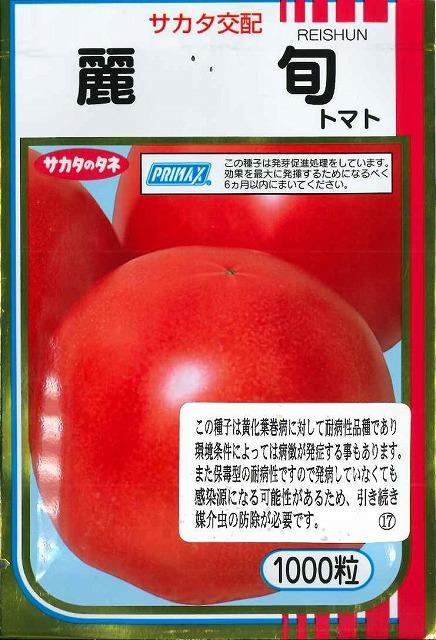 送料無料!大玉トマト麗旬 1000粒サカタ交配
