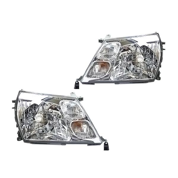 グランドハイエース 10系 16系 クリスタルヘッドライト クローム  ヘッドライト 外装 交換