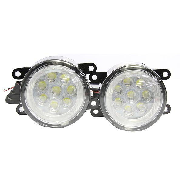 【送料無料】純正タイプ スズキ汎用 CCFLリング H8/H11 16連LED内臓 フォグランプユニット 白(ホワイト) クリスタルメッキ LEDフォグライトユニット