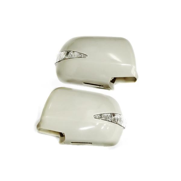 純正交換タイプ 20系クルーガー ウィンカーミラー フットランプイルミ付き LEDウインカードアミラー 未塗装 ウィンカーミラー LEDミラー 純正 カバー LED