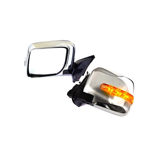 日産 E25キャラバン後期 電格式LEDウインカー メッキドアミラー キヤラバン メッキミラー LEDウィンカー
