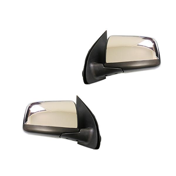 【送料無料】 メッキ電動格納ドアミラー 日産 NV350 キャラバン E26 サイドドア ミラー調整 【サイドミラー ドアミラー サイドドアミラー エアロパーツ 鏡 ガード カバー クロームメッキ シルバー メッキモール 相性抜群】