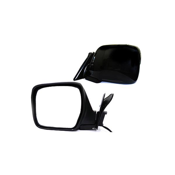 【送料無料】 ブラック ミラーカバー ランドクルーザー ランクル 80系 H1/10~H8/8 サイドミラー ドアミラー サイドドアミラー 鏡 ガード カバー クロームメッキ シルバー メッキモール 相性抜群