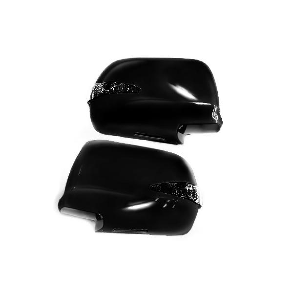 カラー202 純正交換タイプ 交換式 LEDウインカーミラー ウェルカムランプ 20クルーガ ウィンカーミラー LEDミラー 純正 カバー LED 黒 ブラック