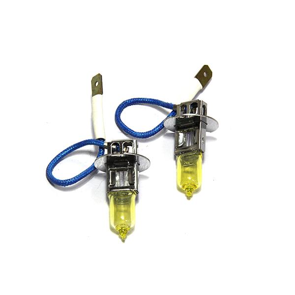 スーパーSALE セール期間限定 10%OFF メール便送料無料 カラーバルブ H3 55Wイエロー ハロゲン 3000K フォグランプ ゴールド バルブ 高発色 2本セット 左右セット 受注生産品 高輝度 黄色 バーナー 新作続 12V