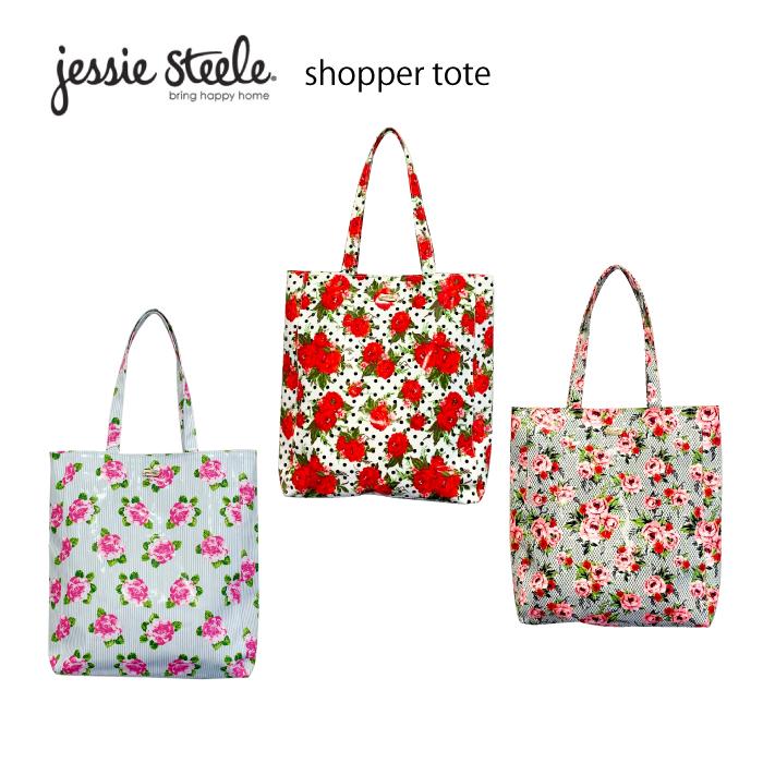 ジェシースティール ショッパートート jessie steele トートバッグ バッグ サブバッグ コーティング 雨の日用 花柄 おしゃれ かわいい