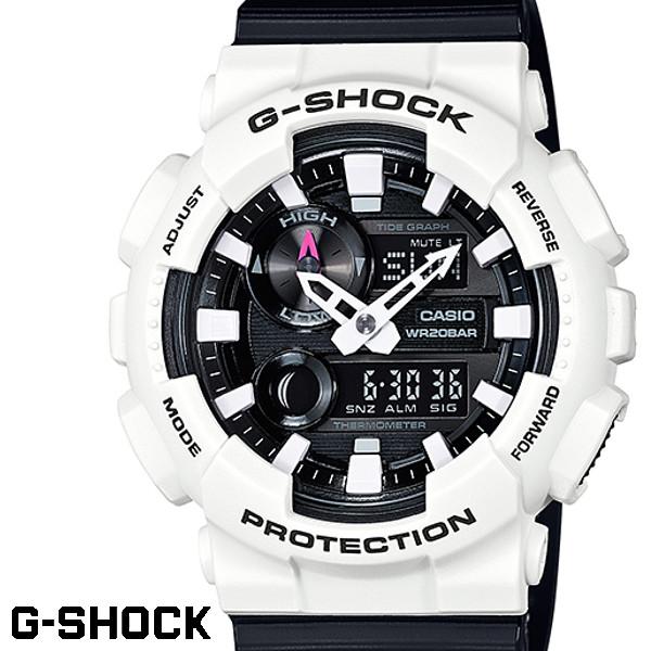 G-SHOCK CASIO 腕時計 メンズ GAX-100B-7A デジアナ デジタル アナログ BIG FACE ブランド うでどけい クロノグラフ G-SHOCK ホワイトxブラック 黒 白 Gライド G-LIDE
