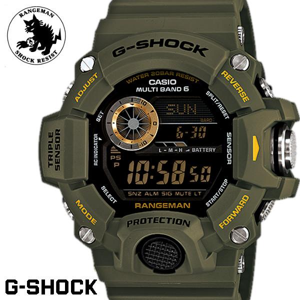 【店内全品ポイント2倍!!】CASIO/G-SHOCK RANGEMAN/レンジマン 電波ソーラー 腕時計 G-ショック アナログ GW-9400-3 うでどけい メンズ men's マスターオブG カーキ ブラック