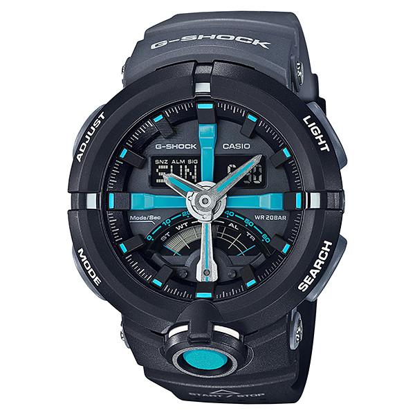 CASIO G-SHOCK ジーショック メンズ 腕時計 ga-500p-1ajf ブルー ブラック パンチングパターン