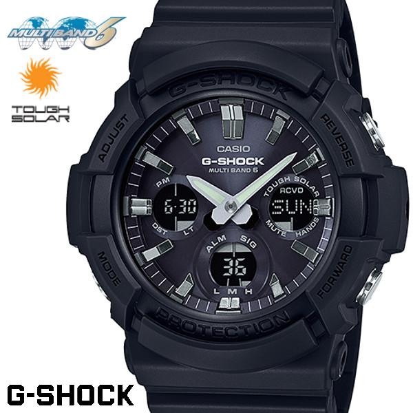 CASIO G-SHOCK 電波ソーラー GAW-100B-1AJF Gショック アナログ デジタル 腕時計 メンズ ブラック 電波 ソーラー カシオ
